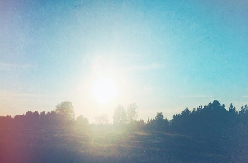 Blå morgon.